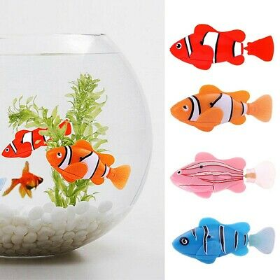 Robot Fish Battery Powered Clownfish Electric Childen Gift Kid Pet Poisson Jouet
