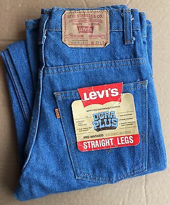 "vintage dead stock Levi's ""straight legs"" 519 denim pants jeans 29 x 34"