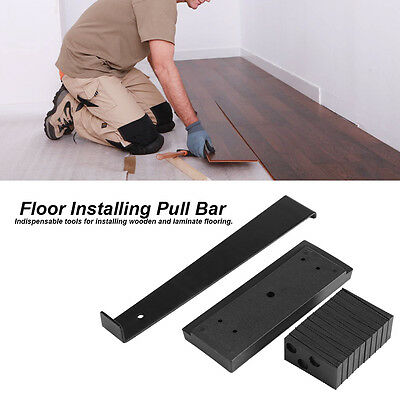 Wood Flooring Installer Laminate Tool Kit Spacers W/ Tapping Block & Pull Bar DH