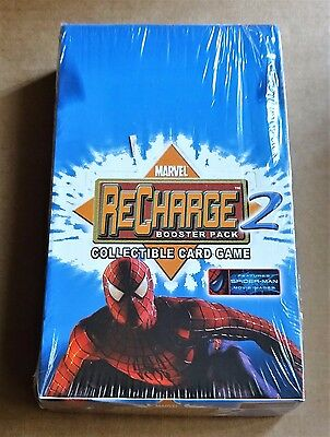 MARVEL RECHARGE 2 CCG NEW FACTORY SEALED BOX OF 36 x BOOSTER PACKS  DATED 2002