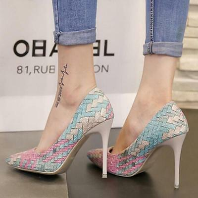 Ladies Women Shoes Stiletto Pumps Pointed Toe High Heels Wedding High Heel Shoes