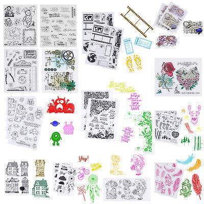 Transparent Silicone Rubber Clear Stamps Scrapbooking Embossing Decor DIY Crafts