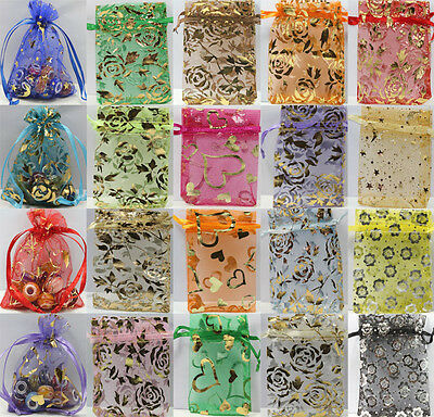 Wholesale 100pcs Floral Printed Jewelry Packing Pouch Wedding Favor Gift Bag