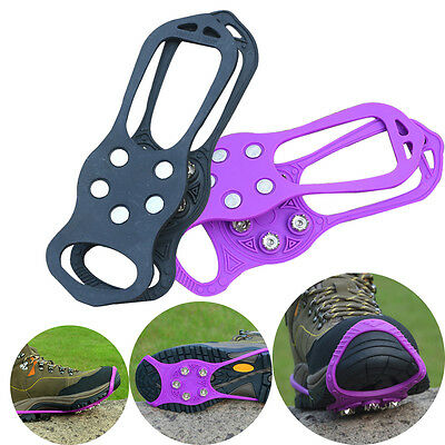 Durable Anti Slip Snow Ice Climbing Shoes Spikes Grips Crampon Hiking Anti-Slip