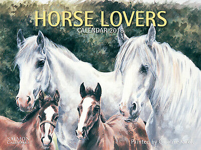 2018 Calendar Horse Lovers Large