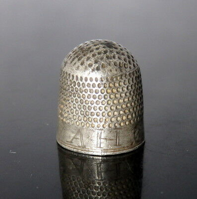 Stunning Jacobean Silver Thimble With Inscription (L286)