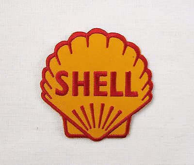 Shell Gasoline old Shield Iron sew on embroidered patch retro camper beetle