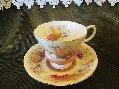 Excellent Vintage Royal Albert Country Fayre Cup And Saucer  'devon'