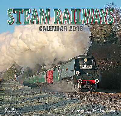 2018 Calendar Steam Railways Large