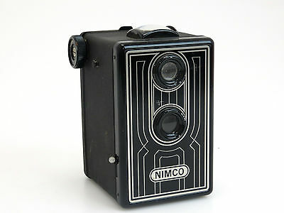 Nimco Pseudo TLR camera black twin lens box   sn269