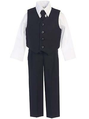 Lito Infant Boys Easter Black 4pc Vest & Pants Suit Set Sz 18-24 Months