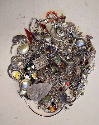 Lot 4 925 Sterling Silver 516g Jewelry Etc. For Scrap Or Not Resale Harvest