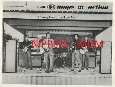 Rare Tommy Cash & The Tom Cats - Sunn Amps Promotional Advertisement