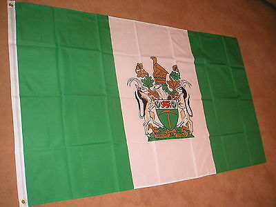 RHODESIA FLAG 3 x 2 BRAND NEW POLYESTER EYELETS POST FREE IN UK