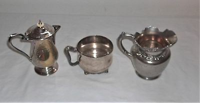 3- Piece Lot Of Silver-Plate Display Or Use