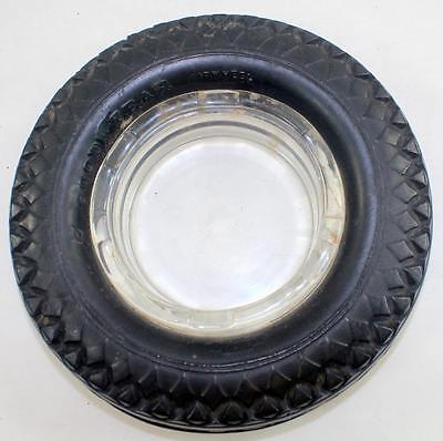 Vintage Goodyear Airwheel 6.50 - 16 Rubber Tire Glass Ashtray