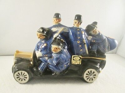 Vintage 1971 Ezra Brooks Carload of Keystone Cops Bourbon Decanter (empty)