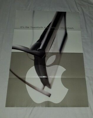 NOS RARE 1997 APPLE Twentieth 20th Anniversary Macintosh MAC promo poster 27x39