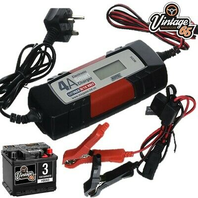 MG 1300 Midget MGB GT Fully Automatic 12v 4 Amp Battery Trickle Charger
