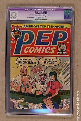 Pep Comics (1940) #93 CGC 5.5 RESTORED 1221139011