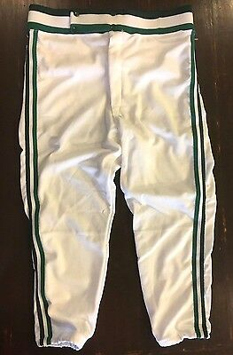 Vtg NEW Deadstock 70's Fab Knit Baseball Pants Large White Green Made in the USA