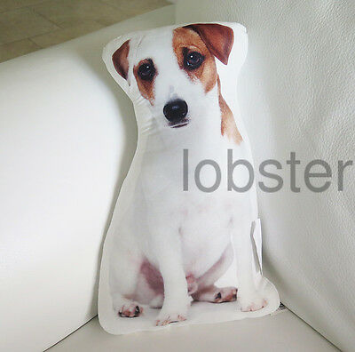 JACK RUSSELL TERRIER DOG PILLOW Photograph on fabric 14 inch with zipper cover