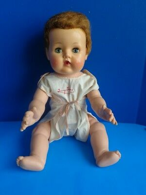 """VINTAGE 18"""" TINY TEARS BABY DOLL- AMERICAN CHARACTER 1950s"""