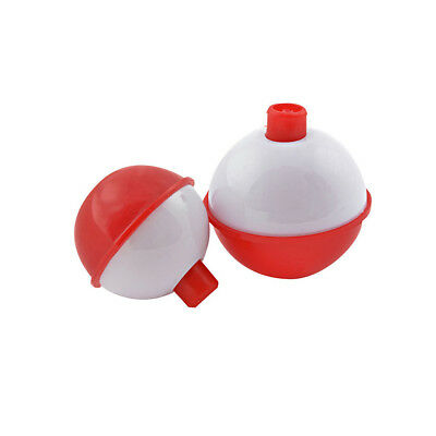 """SouthBend 1-1/2"""" Red & White F6 Fishing Float Easy Push Button/Pack of 2"""