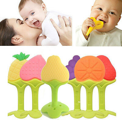 Baby Silicone Teething Soother Gum Toy Infant Medical Food Grade Fruit Teether