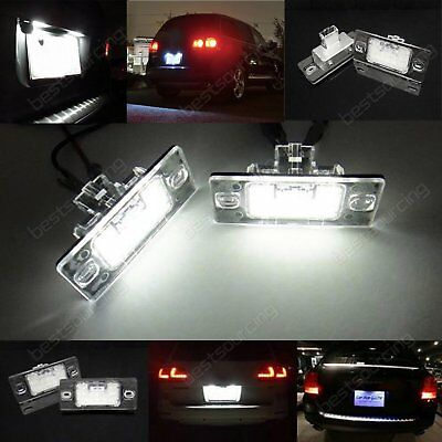 LED License Number Plate Light Lamp Bulb VW Golf Touareg Passat Tiguan 5N White