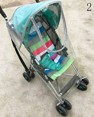 Universal Strollers Baby Carriage Waterproof Dust Rain Cover Windshield HU