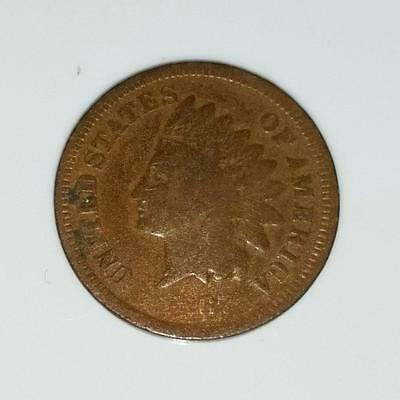 1867 Indian Head Cent 1 c, Oak Wreath Reverse with Shield No Reserve NR (RC1777)