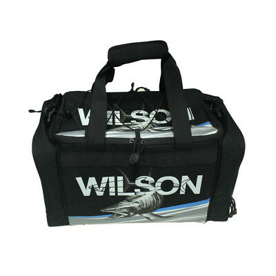 Wilson Large Fishing Tackle Bag with 4 Tackle Boxes & Multiple Storage Pockets