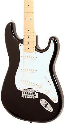 Squier Affinity Series Stratocaster Electric Guitar Black Maple Fretboard