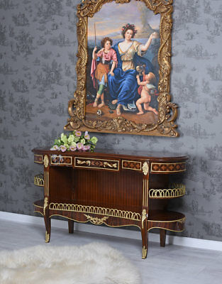 Sideboard Table Antique Side Table Wall Table Baroque Inlaid Shelf Louis XVI