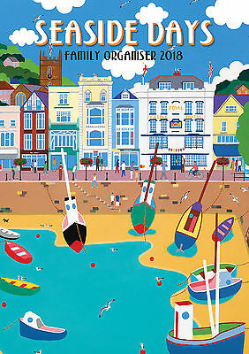 2018 Calendar Seaside Days Family Organiser Large