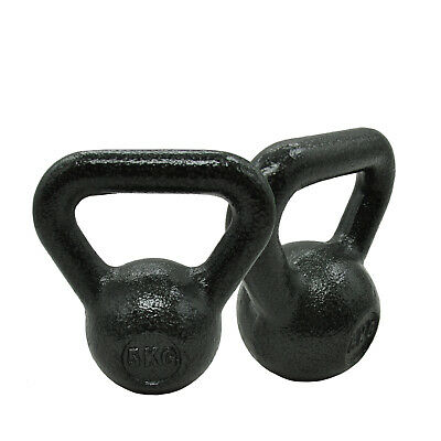 5KG x 1 or 5KG x 2 KETTLEBELL WEIGHT - CAST IRON HOME GYM TRAINING KETTLE BELL