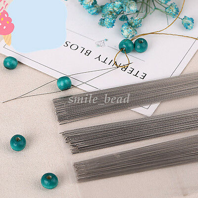 2Pcs Beading Needles Easy to Threading String Cord Jewelry Hand Tools DIY Craft