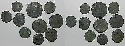 Ancient Rome : 10 X Bronze Coins
