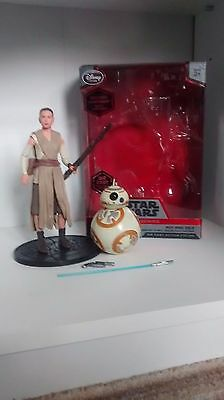 star wars elite series Rey and BB-8 complete with lightsaber and box disney