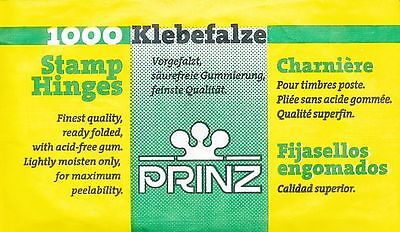 Prinz 1000 Ready Folded Stamp Hinges Collectors - Acid Free Mounts
