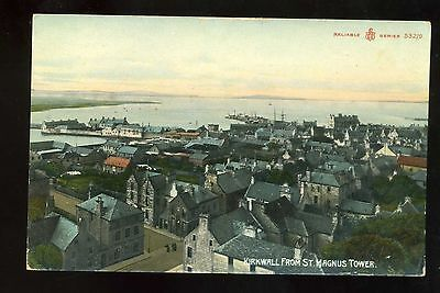 ORKNEY  Kirkwall from St Magnus Tower - Coloured