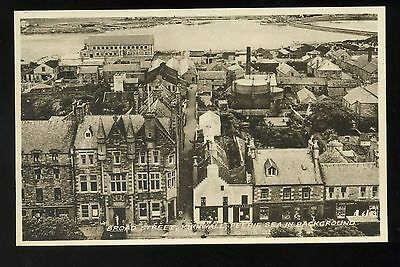 ORKNEY  Kirkwall Broad Street  aerial View with Shops/factories / Perrie Sea