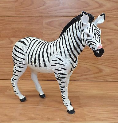 """Unbranded/Generic 8"""" Tall x 9"""" Long Soft Plastic Toy Zebra Figure Only **READ**"""