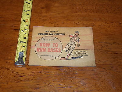 Finer Points Of Baseball For Everyone How To Run Bases Comic 1959 Babe Ruth