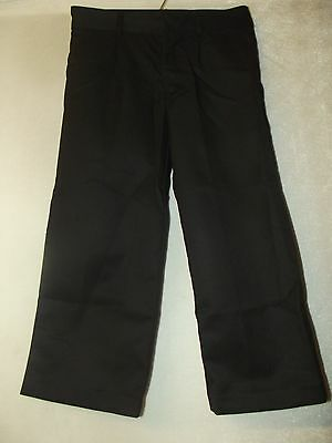 FAB NEW BOYS EX STORE BACK TO SCHOOL TROUSERS - BLACK Age 3 - 16 years