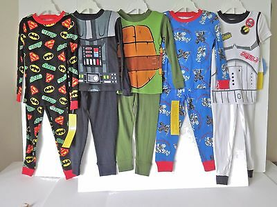 Large Lot Of 5 Pairs Boys Pajamas Size 4 New With Tags