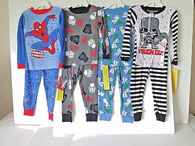 Large Lot Of 4 Pairs Boys Pajamas Size 4 New With Tags