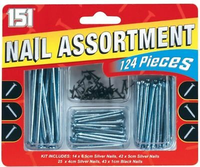 Brand New Silver and Black Stainless Steel Small and Large Assorted Nails Pins
