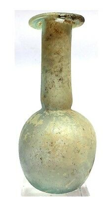 Ancient Roman Glass Flask.